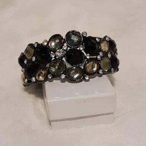 Vintage Rhinestone Bangle Bracelet